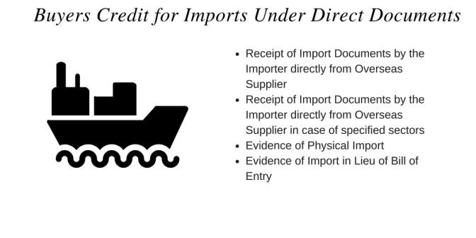 Buyers Credit for Imports Under Direct Documents