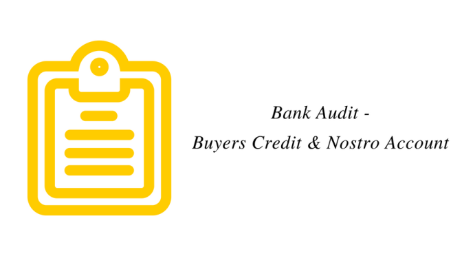 Bank Audit – Buyers Credit and Nostro Account